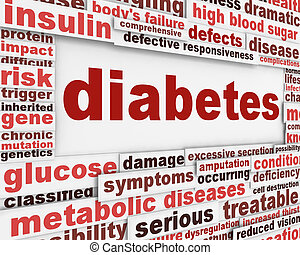 плакат, медицинская, дизайн, диабет