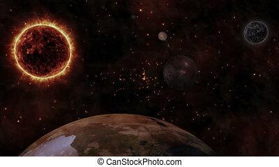 планета, солнце, земля, planets, пространство