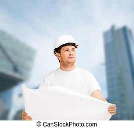 план, шлем, ищу, архитектор, мужской