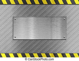 пластина, металл, stripes, опасность, задний план
