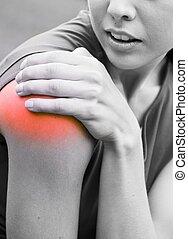 плечо, -, спортсменка, травма, боль