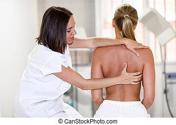 плечо, center., медицинская, физиотерапия, проверить