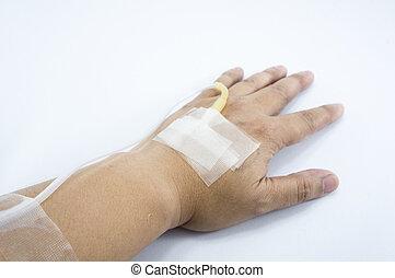 плющ, рука, рука, восстановление, пациент, лекарственный