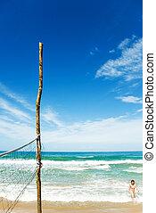 пляж, время