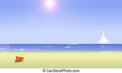 пляж, день