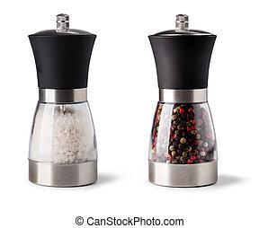 поваренная соль, and, перец, шлифовальный станок