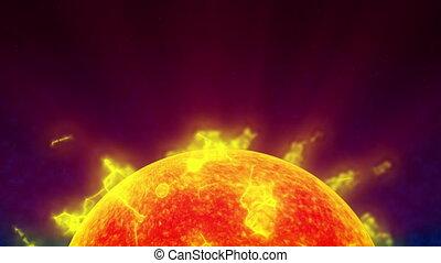 поверхность, солнце, 4k