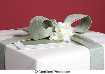 подарок, крупный план