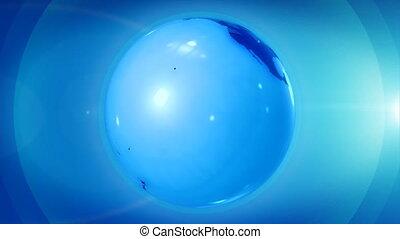 подробный, вращающийся, земной шар, высоко