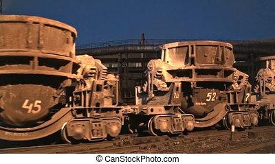 поезд, металл, жидкость, containers