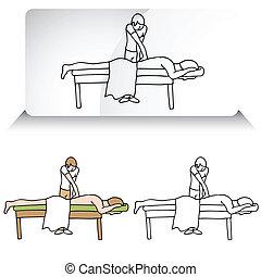 позвоночник, aligning, костоправ