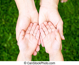 показ, ребенок, руки