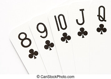 покер, -, прямо, промывать