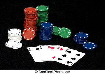 покер, прямо, рука