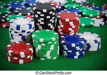 покер, чипсы