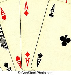 покер, of, aces, cards