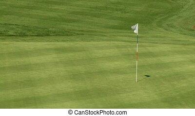 поле, гольф