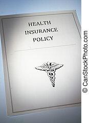 политика, документ, здоровье, страхование, или