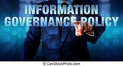 политика, информация, менеджер, pushing, управление