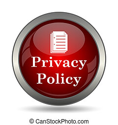 политика, конфиденциальность, значок