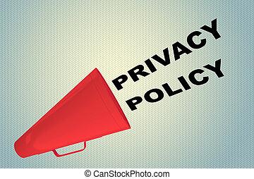 политика, концепция, конфиденциальность