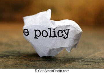 политика, концепция, мусор