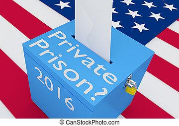 политика, концепция, частный, тюрьма