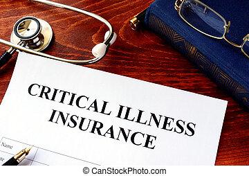 политика, критический, болезнь, страхование