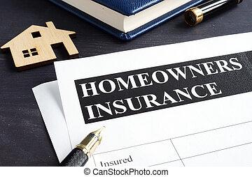 политика, модель, homeowners, home., страхование