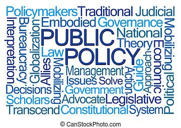 политика, слово, общественности, облако