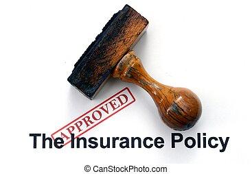 политика, -, страхование, утвержденный