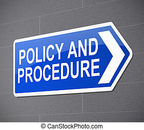 политика, concept., процедура