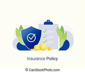 политика, concept., страхование