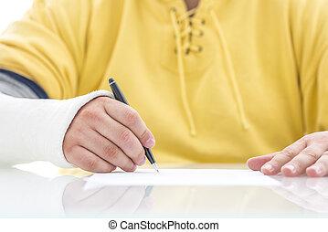 политика, signing, страхование