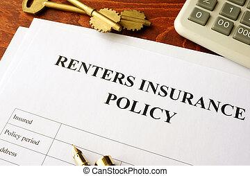 политика, table., renters, страхование