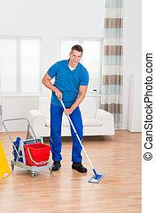 пол, работник, знак, equipments, уборка, влажный