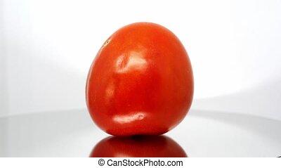 помидор, вверх, задний план, испорченный, закрыть, белый
