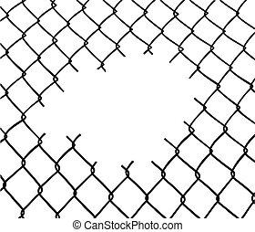 порез, провод, забор