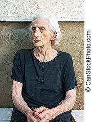 портрет, девяносто, старый, бабушка, years