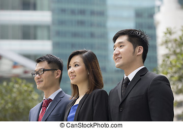 портрет, of, азиатский, бизнес, partners.