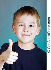 портрет, of, , улыбается, мальчик