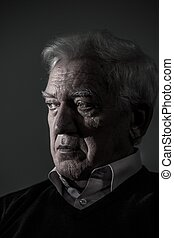 портрет, of, aged, человек