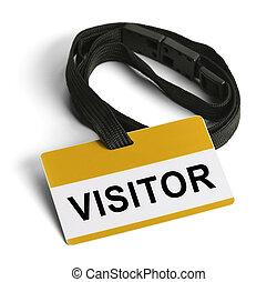 посетитель, значок