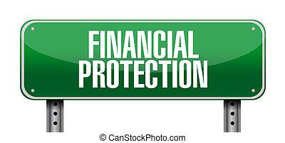 после, концепция, финансовый, защита, знак