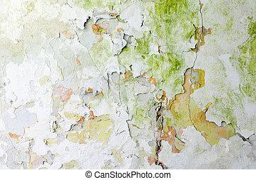 потертый, стена, текстура, задний план