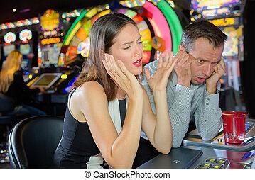 потерять, в, , казино