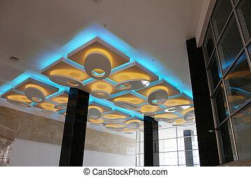 потолок, осветительные приборы