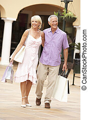 поход по магазинам, пара, вместе, старшая, enjoying, поездка