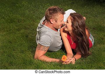 поцелуй, of, люблю