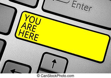 почерк, текст, письмо, вы, находятся, here., концепция, имея...